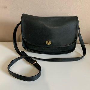 COACH City Bag Black Leather Purse Cross-body Bag